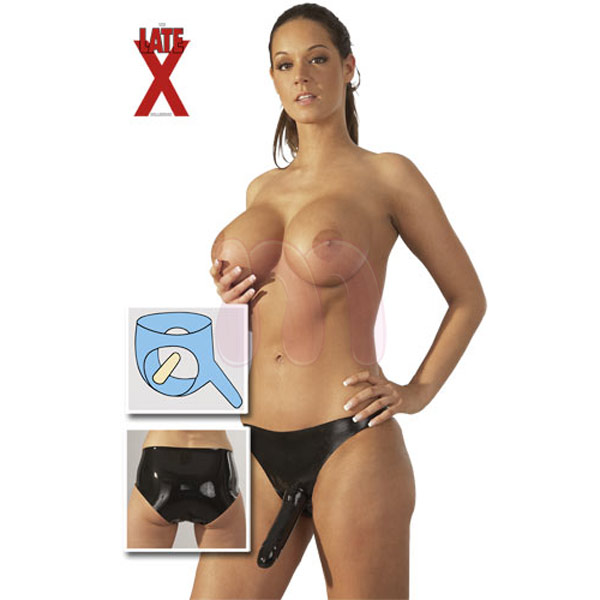����� � ��������������� �Latex Panties with 2 Dongs�