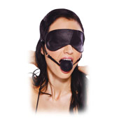 ����� � ������ Blindfold Ball Gag