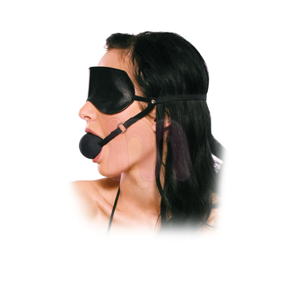 Маска с кляпом Blindfold Ball Gag