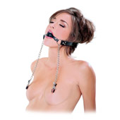 Кляп «Deluxe Ball Gag and Nipple Clamps»