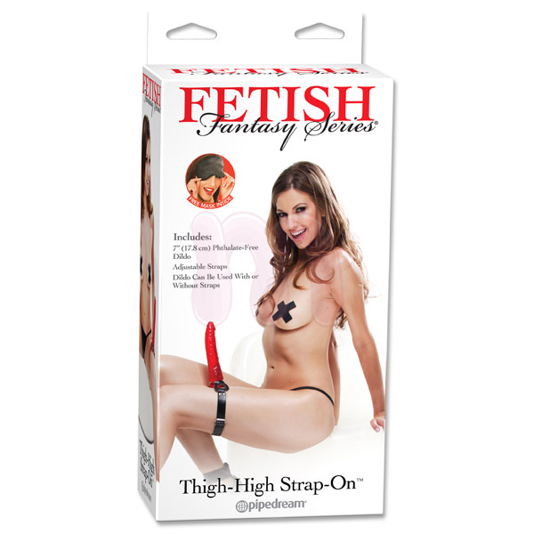 Страпон «Ff thigh strap-on red»
