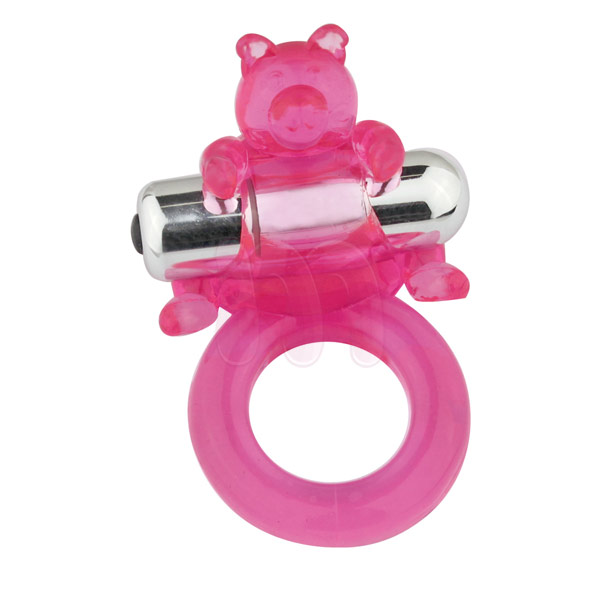 Виброкольцо «7-Model cockring vibe-cute bear»