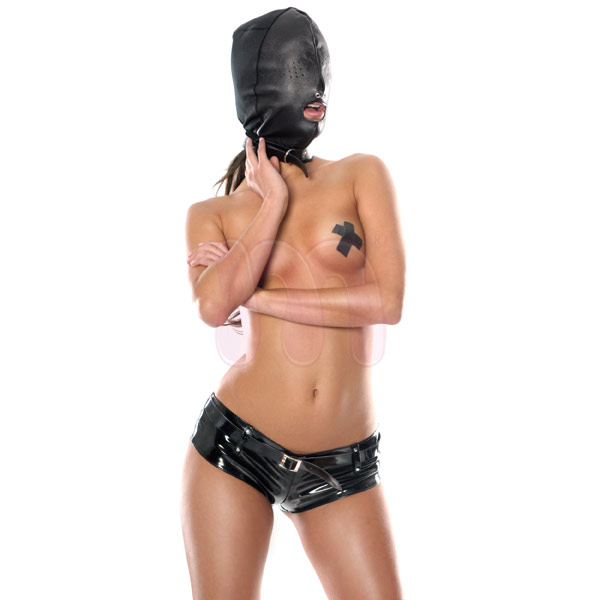 ����� �� ���� �Leather hood with 3 holes�