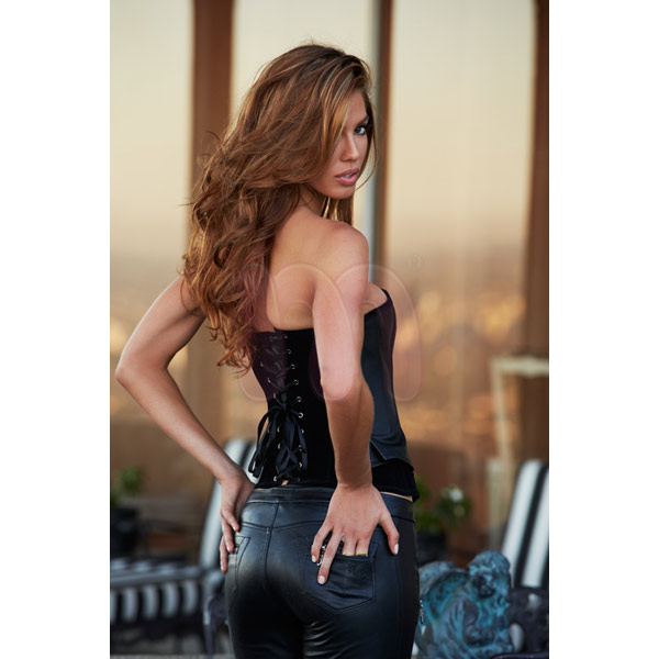 ������ �Suede and leather corset�