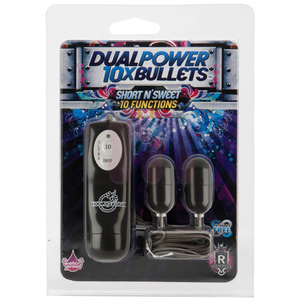 Двойное виброяцо «10X dual power bullets - short n sweet»