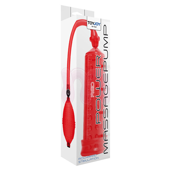 Помпа «Power massage pump w. sleeve red»
