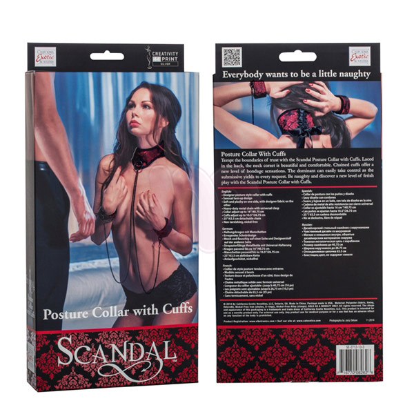 ������� � ��������� �Scandal posture collar with cuffs�