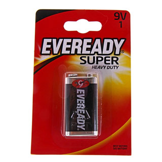 Батарейка солевая «Energizer eveready super heavy duty 9v»